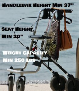 How To Choose Rollator Walkers For A Tall Person
