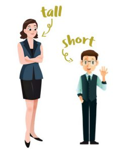 women and tall men