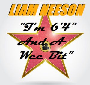 Liam Neeson Official Height