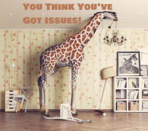 Giraffe Representing A Tall Person