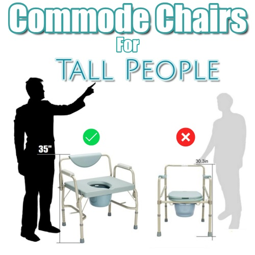 Extra Tall Bedside Commodes